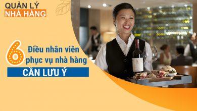 6 Điều nhân viên phục vụ nhà hàng cần lưu ý