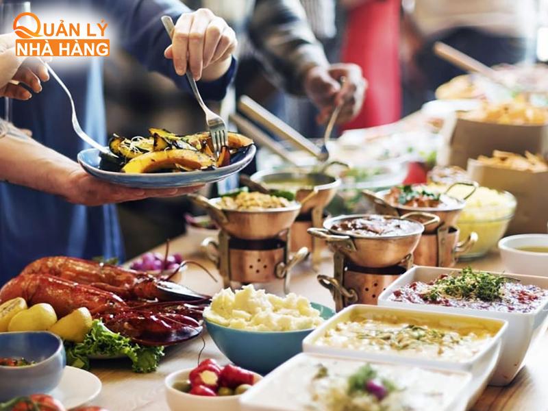 kiểm soát chi phí nguyên vật liệu nhà hàng buffet