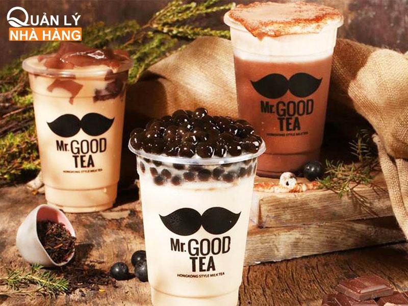 Menu đồ uống của Mr. Goodtea liên tục được cập nhật theo xu hướng