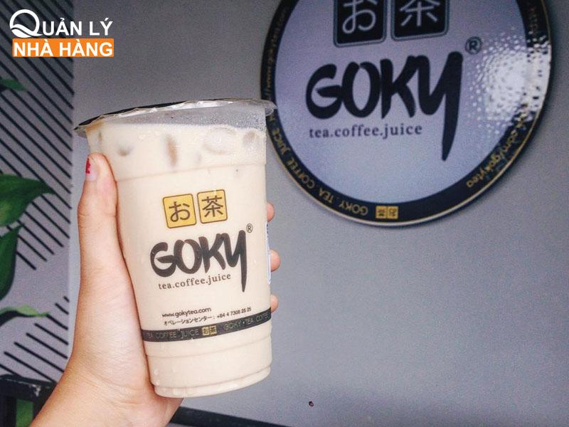 Đặc trưng của thương hiệu Goky là mùi vị hơi chát của trà, vị ngọt thanh