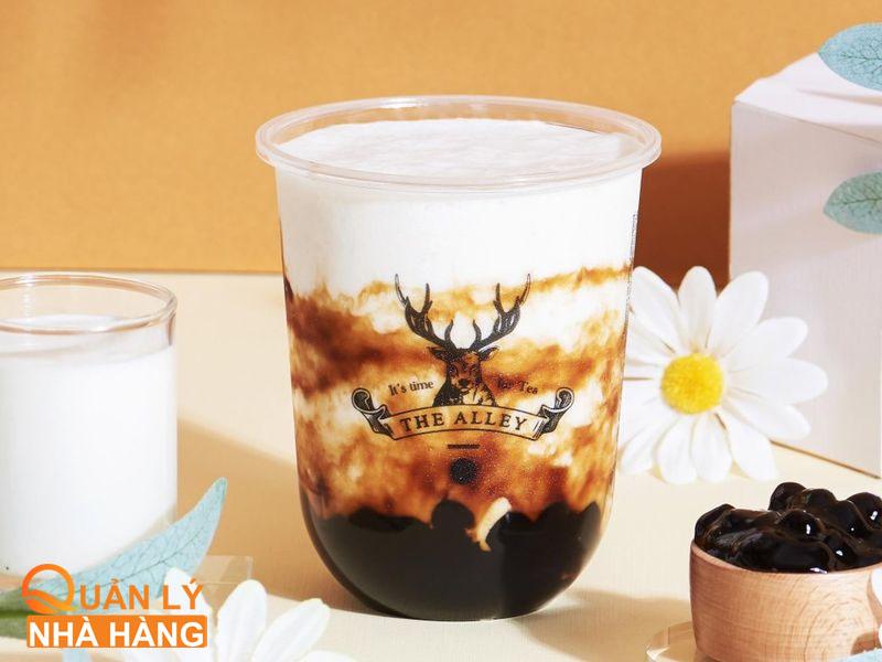 """The Alley là một thương hiệu trà sữa đang """"làm mưa làm gió với món sữa chua trân châu đường đen"""