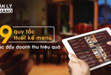 quy tắc thiết kế menu
