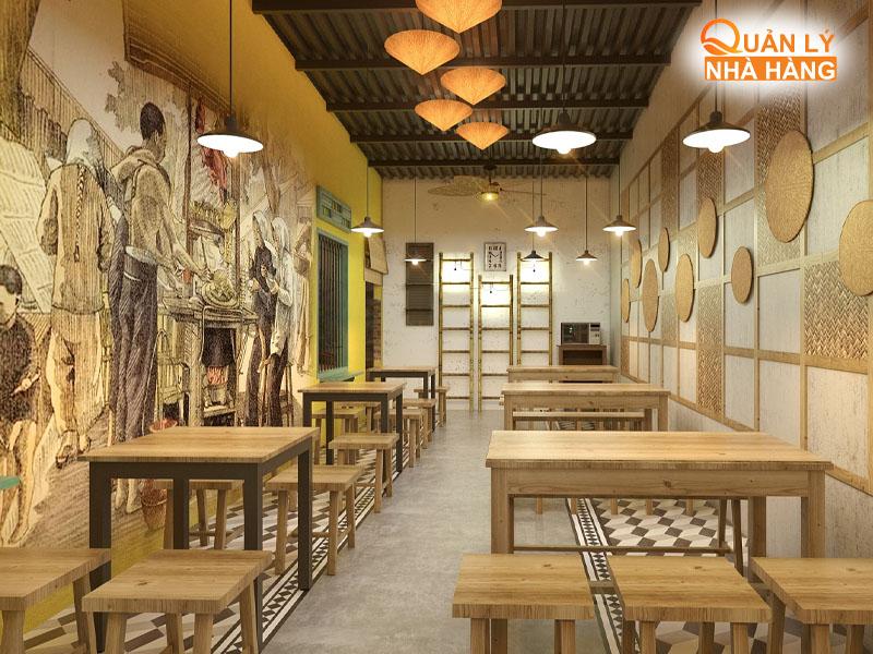Dễ nhận thấy nhà hàng và quán ăn khác nhau về quy mô