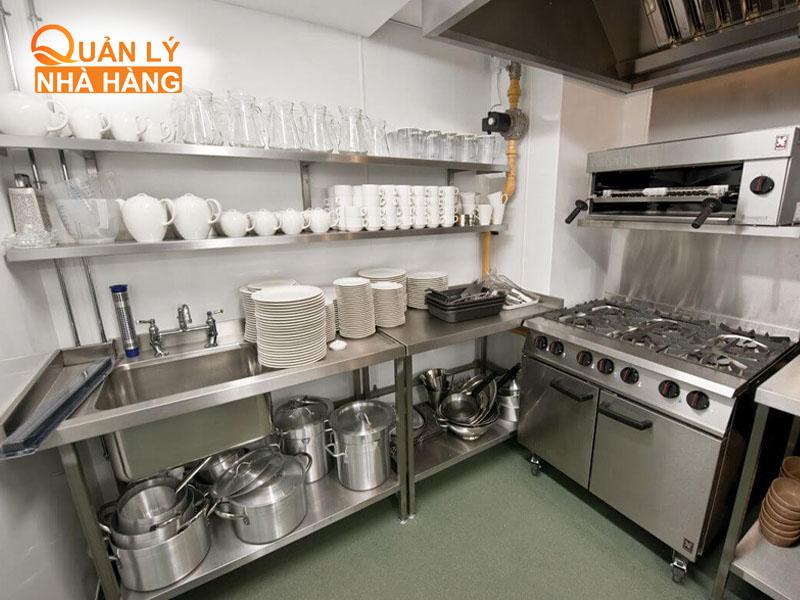 Trang bị các thiết bị bếp hiện đại, tiên tiến