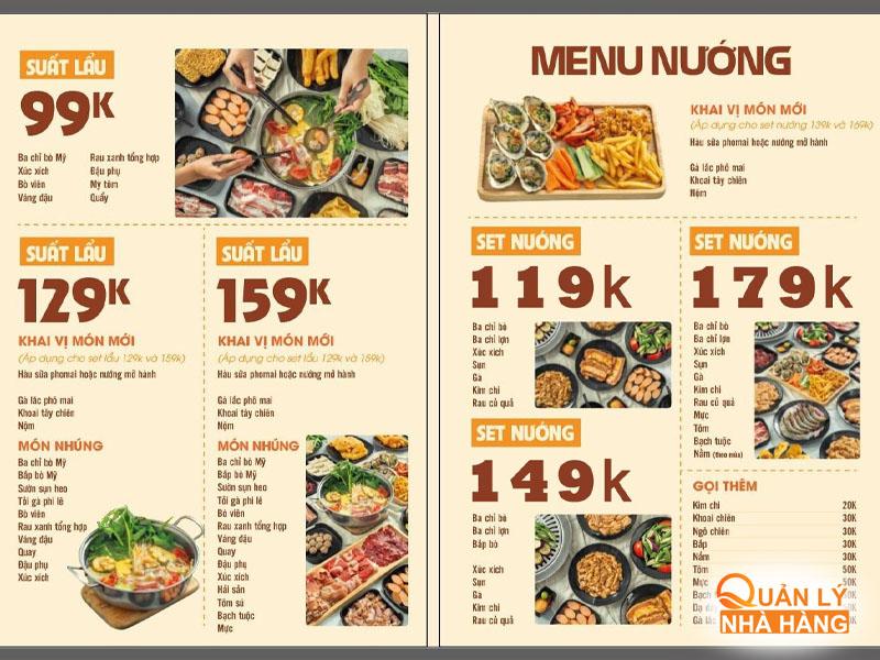 Cải tiến menu thêm vào những món ăn xu hướng hot trend