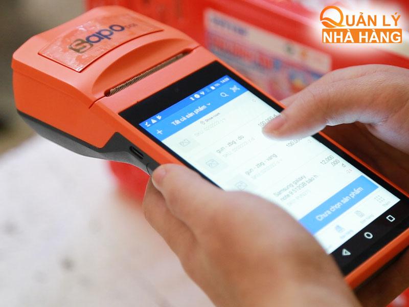 Máy bán hàng tích hợp máy in hóa đơn SAPO SM