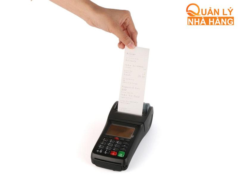 Máy in hóa đơn cầm tay không cần kết nối nguồn điện