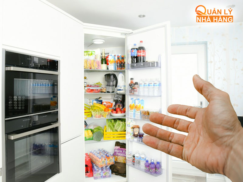 Thông thường các nhà hàng nhỏ sẽ bảo quản thực phẩm trong tủ lạnh