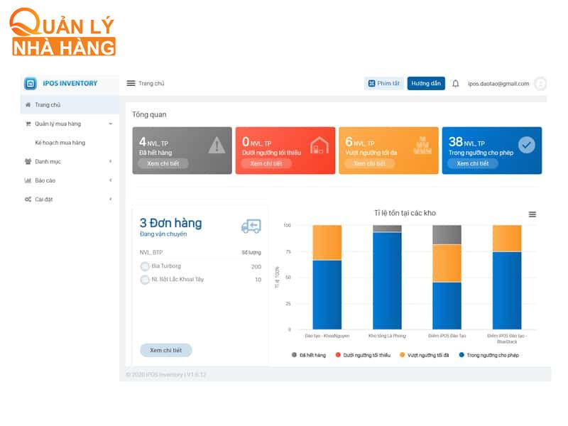 Phần mềm quản lý kho iPOS Inventory