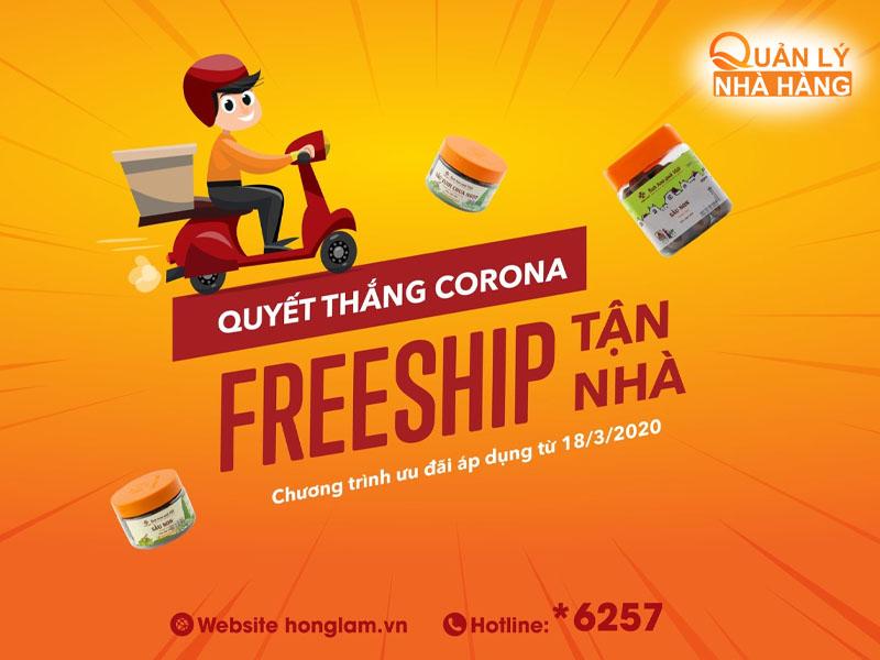 Freeship chương trình được nhiều nhà hàng sử dụng nhất mùa COVID